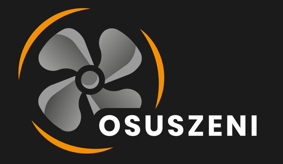 Logo osuszeni: osuszanie budynków, wynajmem profesjonalnych urządzeń do usuwania wilgoci, osuszacze, nagrzewnice, wentylatory, ozonatory